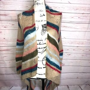 Olive & Oak Open Knit Waterfall Cardigan Size M